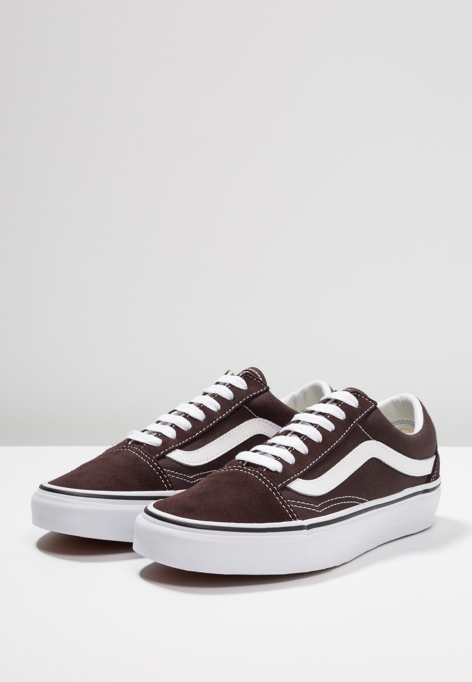 Vans OLD white torte basses chocolate true SKOOLBaskets odQCexWrB