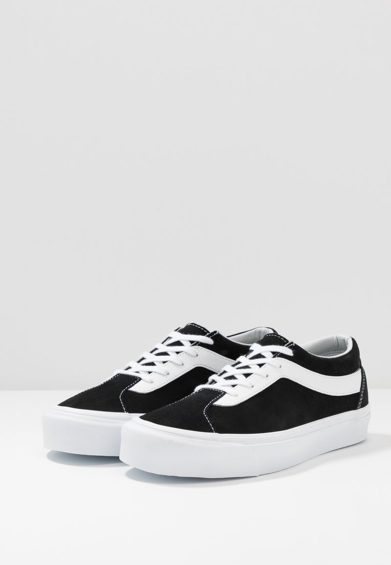 White NiBaskets Bold Basses true Black Vans nOkw0P