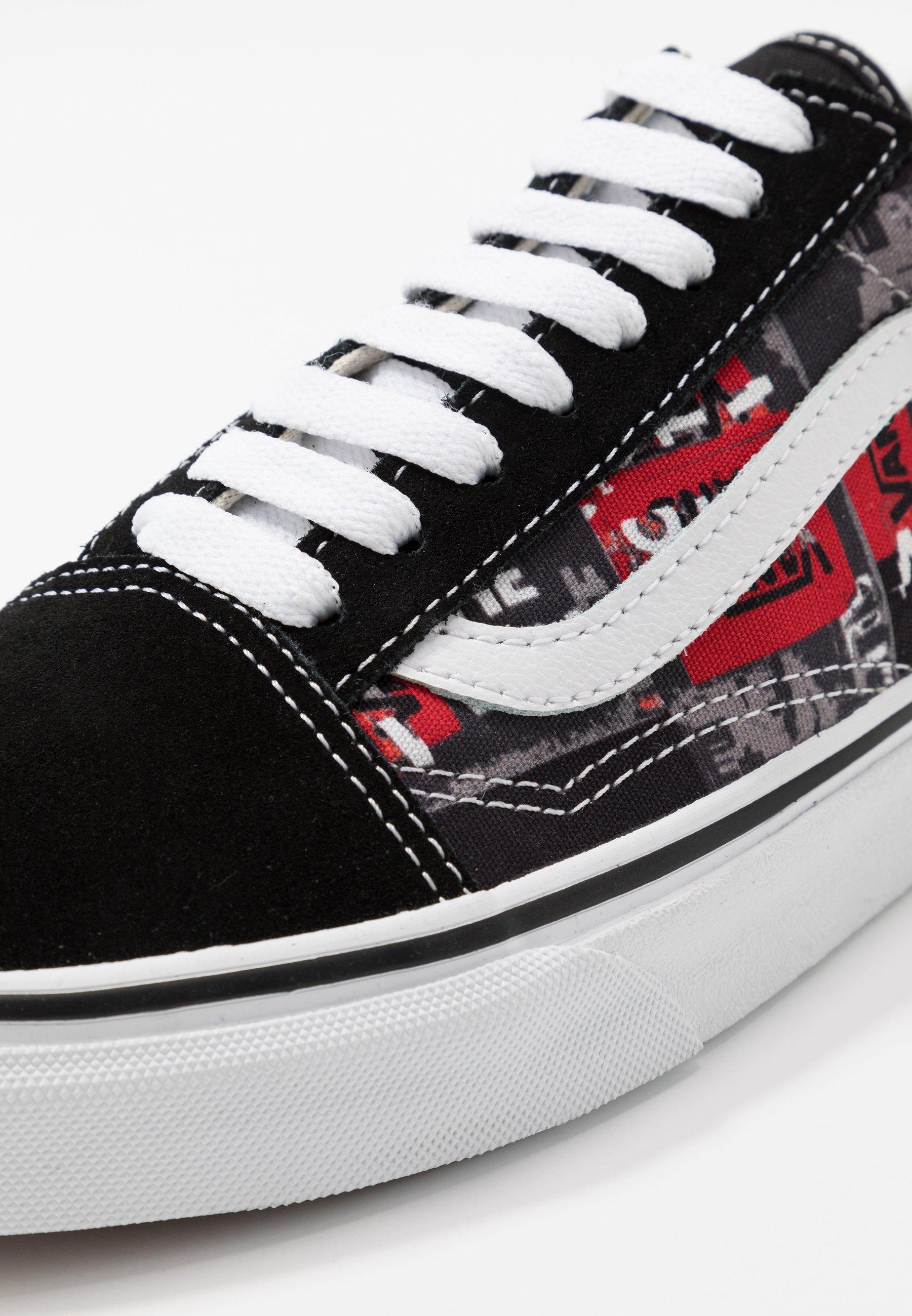 Vans Old Skool - Sneakers Black/red/true White