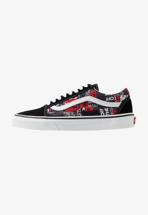 OLD SKOOL - Matalavartiset tennarit - black/red/true white