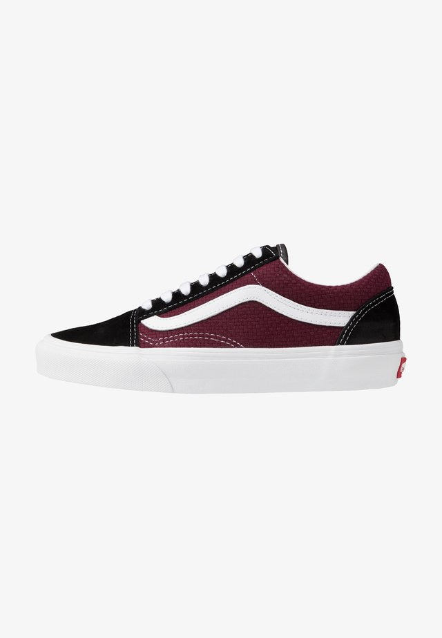 OLD SKOOL - Zapatillas skate - black/port royale