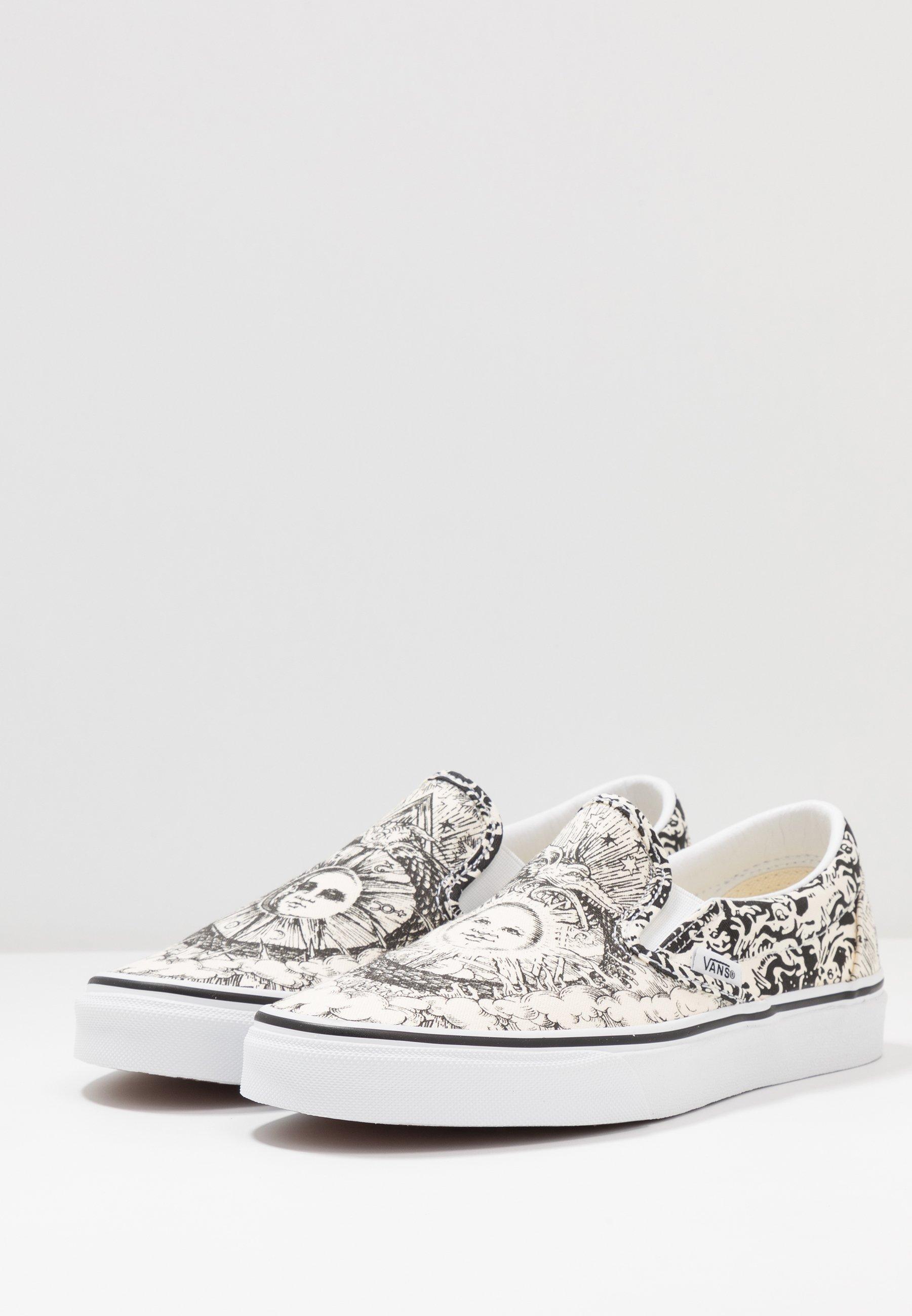 Vans CLASSIC - Loafers - black/true white