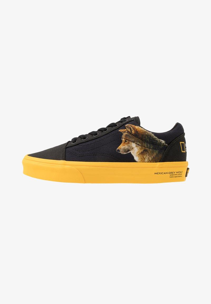 Vans - OLD SKOOL  - Sneakersy niskie - black/yellow/multicolor