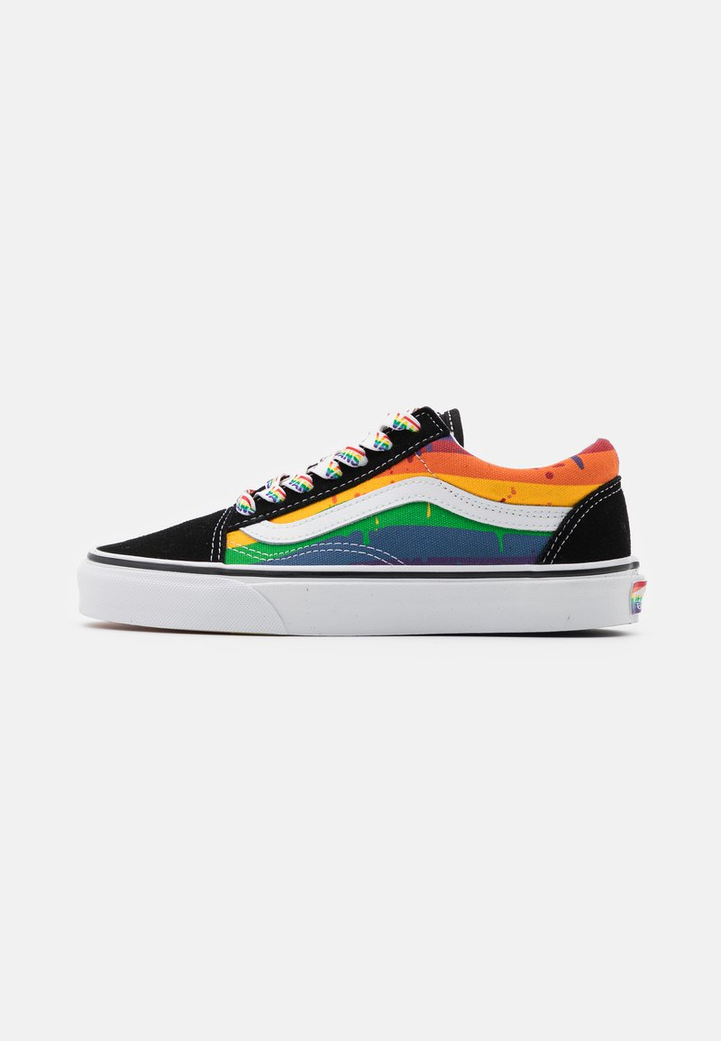 Vans - OLD SKOOL - Sneakersy niskie - black/multicolor/true white