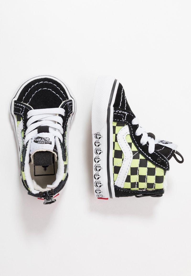 Vans - SK8 ZIP - Sneakers hoog - black/sharp green