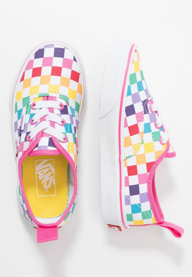 Vans - AUTHENTIC ELASTIC LACE - Slip-ons - rainbow/true white