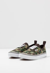 Vans - AUTHENTIC ELASTIC LACE - Scarpe senza lacci - brown/true white - 3