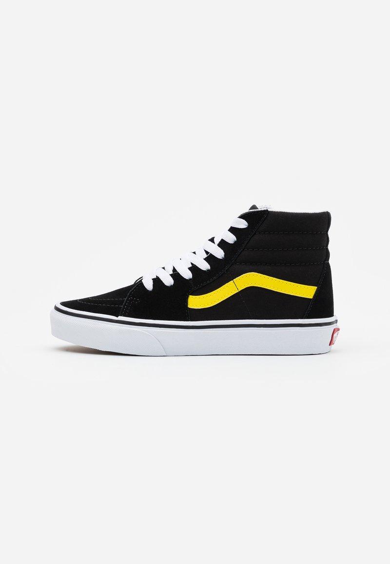 Vans - SK8 UNISEX - Korkeavartiset tennarit - black/blazing yellow/true white