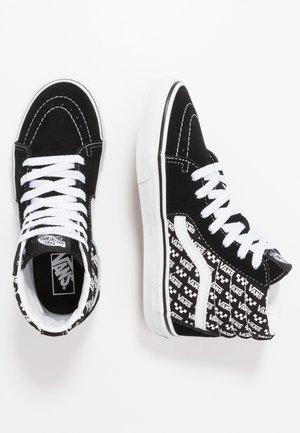 SK8 - Korkeavartiset tennarit - black/true white