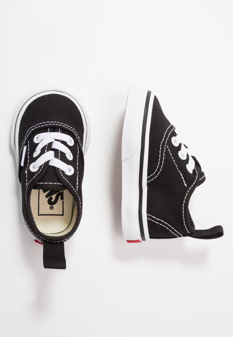 Vans - AUTHENTIC ELASTIC LACE - Loaferit/pistokkaat - black/true white