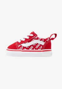 Vans - OLD SKOOL ELASTIC LACE - Matalavartiset tennarit - racing red/true white - 1