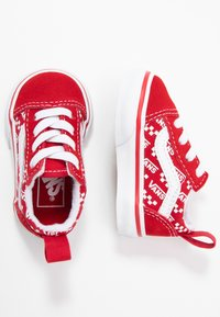 Vans - OLD SKOOL ELASTIC LACE - Matalavartiset tennarit - racing red/true white - 0