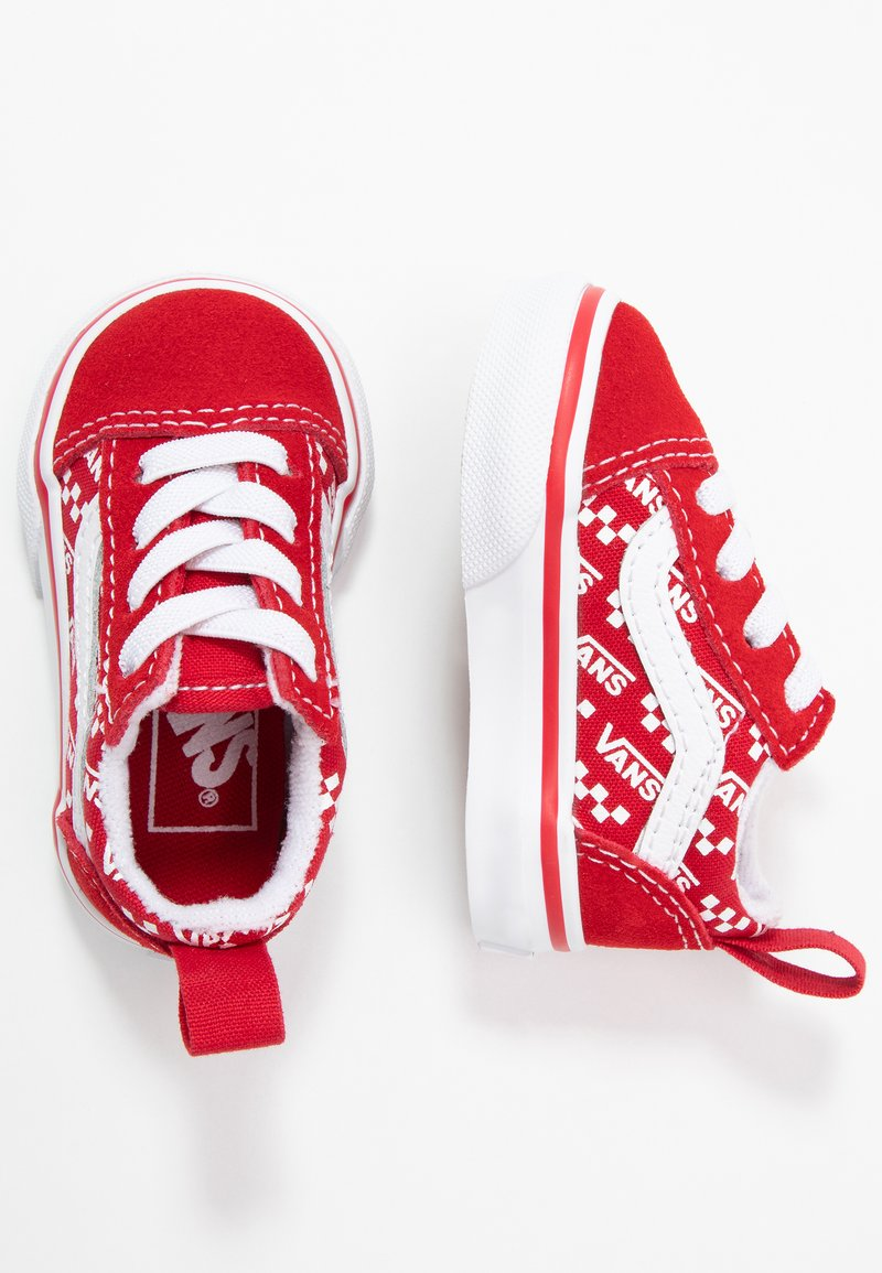 Vans - OLD SKOOL ELASTIC LACE - Matalavartiset tennarit - racing red/true white