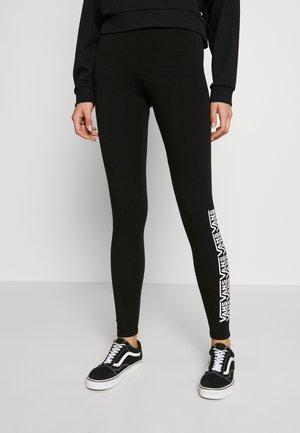 CHALKBOARD FAIR WELL - Leggings - black