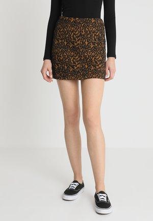 DUSK SKIRT - Spódnica trapezowa - brown/black