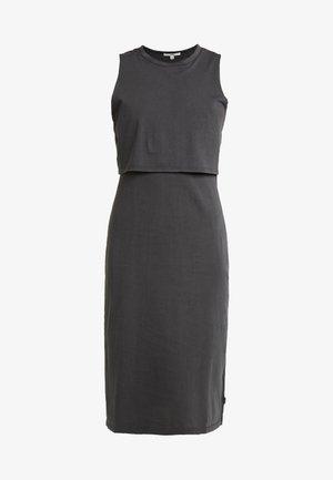 NATIVE MUSCLE - Vestito di maglina - black