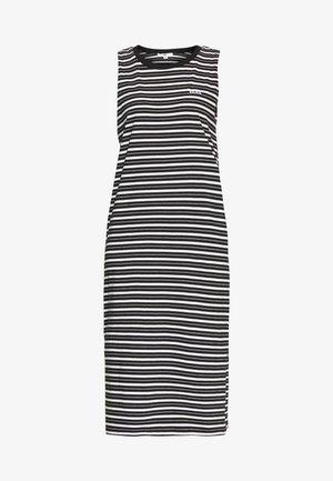 MINI CHECK MIDI DRESS - Korte jurk - black