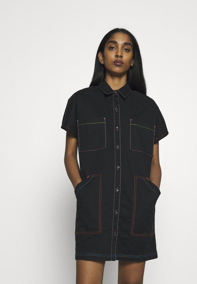 THREAD IT DRESS - Vestido vaquero - black