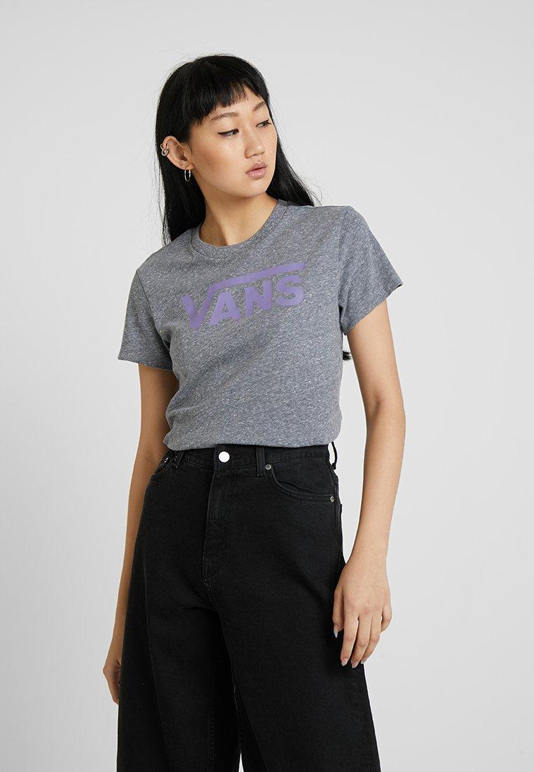 Vans - FLYING V CREW TEE - Print T-shirt - grey heather