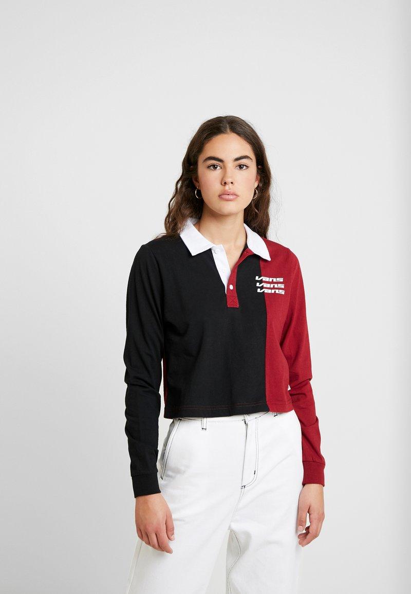 Vans - SUPERSPEEDEE - Poloskjorter - black/biking red