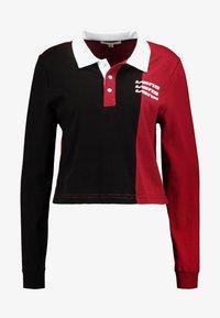 Vans - SUPERSPEEDEE - Poloskjorter - black/biking red - 3