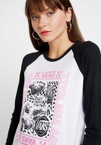Vans - LADY VANS STING RAGLAN - Camiseta de manga larga - white/black - 3