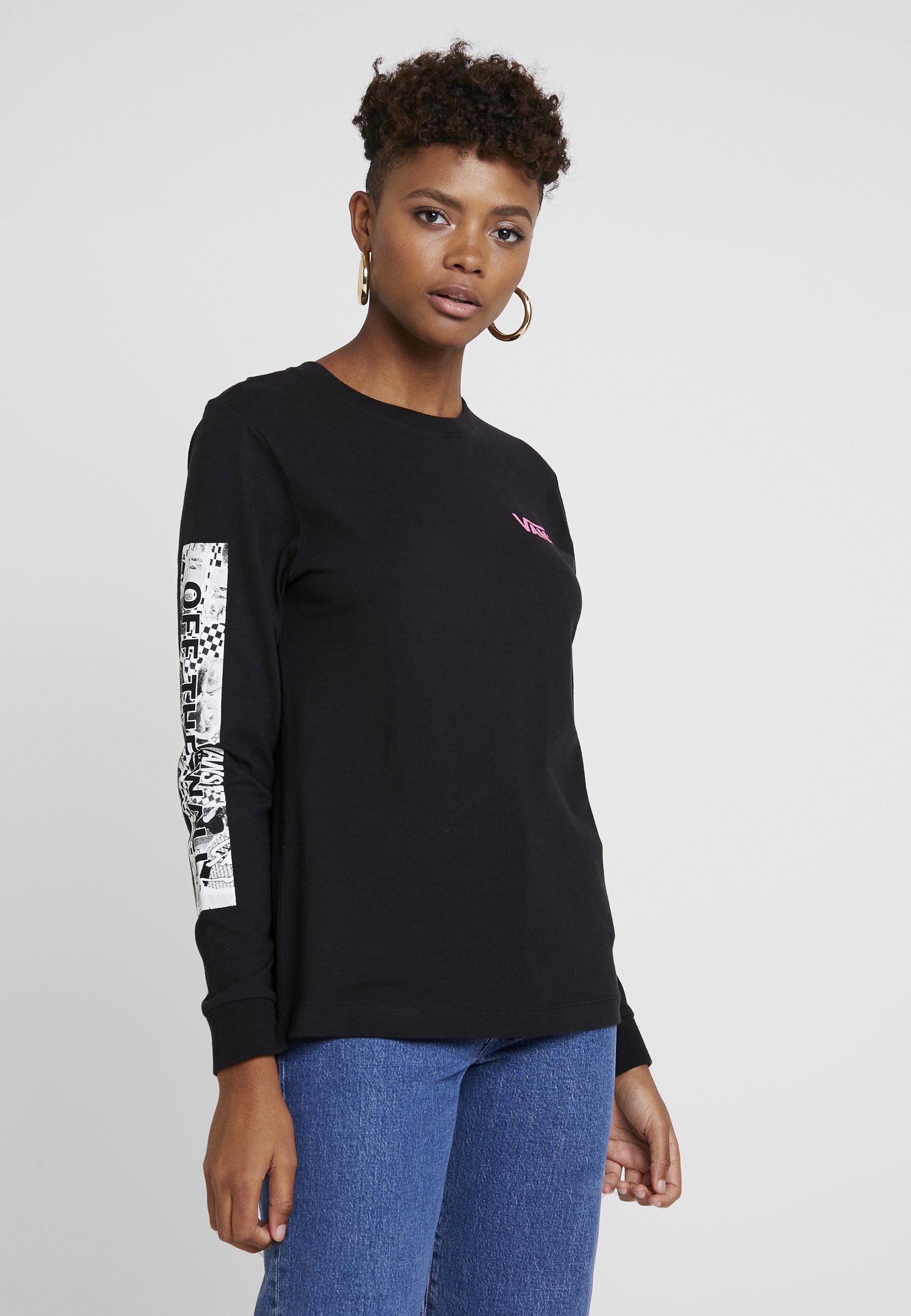 Black Vans À Lady shirt RockinT Longues Block Manches EHIeWD2Y9