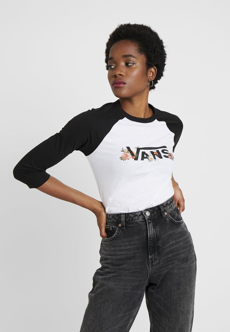 Vans - FLORAL 3/4 RAGLAN - Camiseta de manga larga - white/black