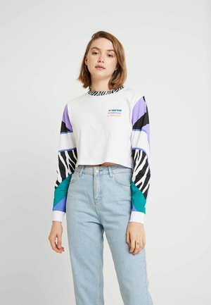 ZEBRA BOYFRIEND CROP - Long sleeved top - white