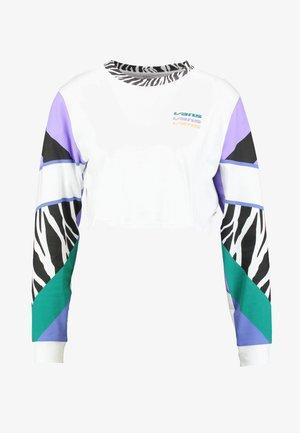 ZEBRA BOYFRIEND CROP - T-shirt à manches longues - white