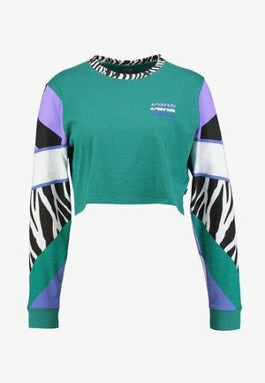 ZEBRA BOYFRIEND CROP - Bluzka z długim rękawem - tidepool
