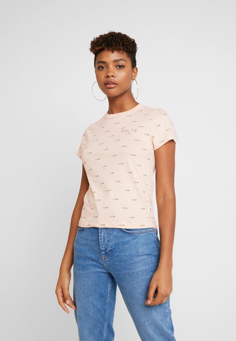Vans - BCA BABY TEE - Print T-shirt - nude check