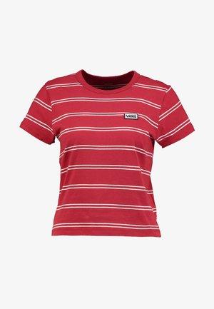 SPACEY STRIPE - Camiseta estampada - chili pepper/white