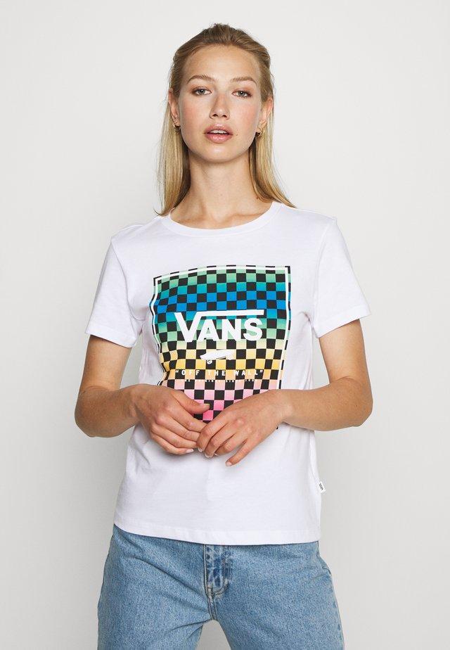 VINTAGE CHECK BOX - T-shirt con stampa - white