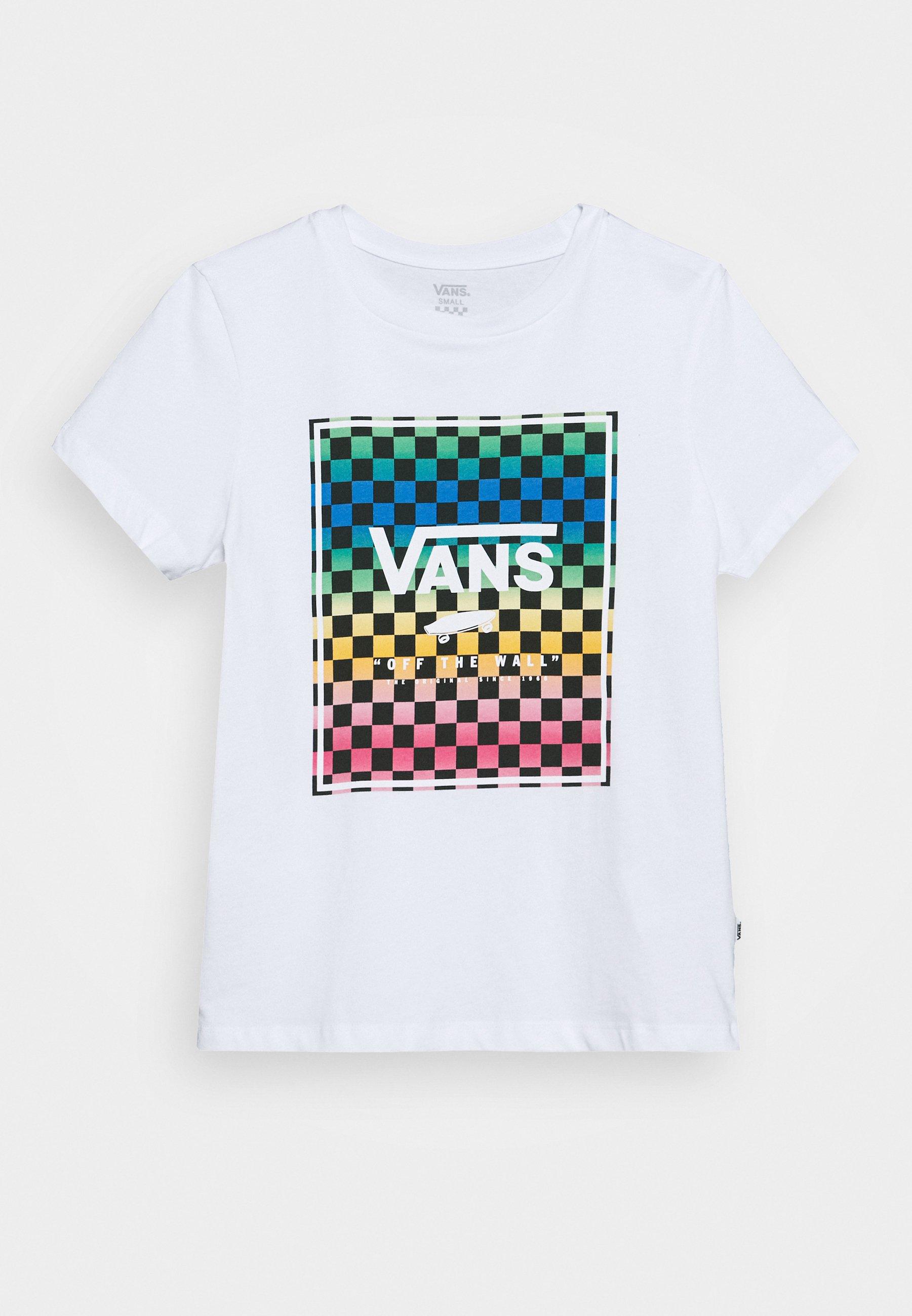 VINTAGE CHECK BOX T Shirt print white