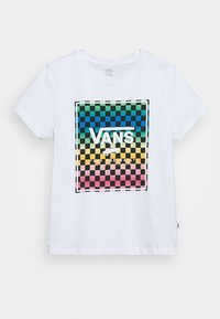 Vans - VINTAGE CHECK BOX - T-shirt con stampa - white - 4