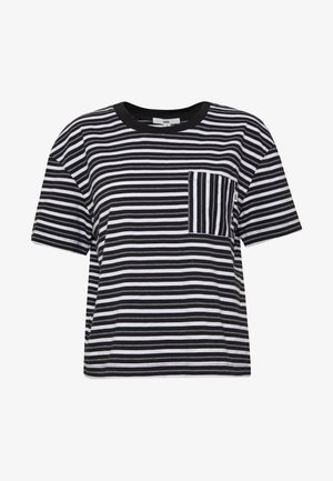 MINI CHECK TOP - T-Shirt print - black