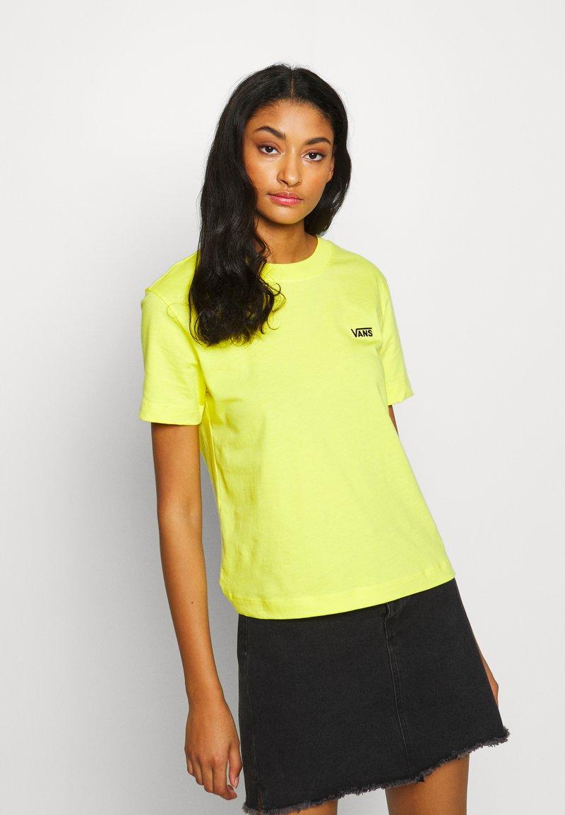 Vans - JUNIOR  BOXY - Print T-shirt - lemon tonic