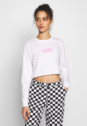 AIRBORNE CROP - Long sleeved top - white/fuchsia pink