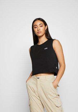 JUNIOR MUSCLE CROP - Topper - black