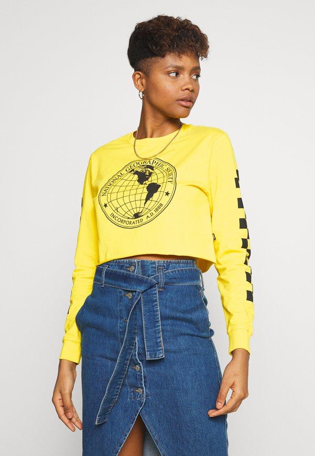 GEO CROP - Långärmad tröja - cyber yellow