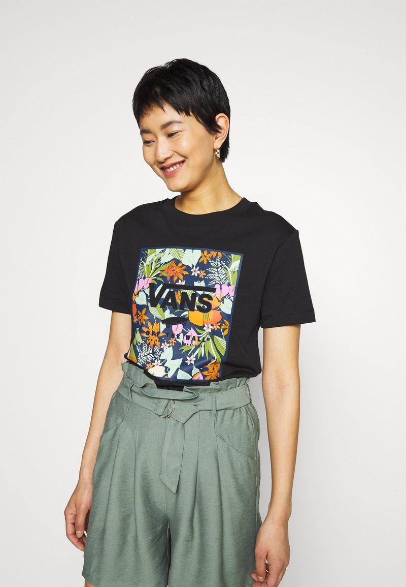 Vans - SONGWRITER JUNIOR BOXY - Print T-shirt - black