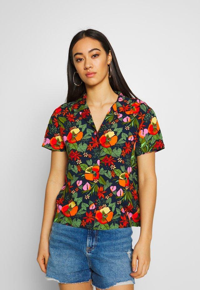 LANII WOVEN - Button-down blouse - multi tropic