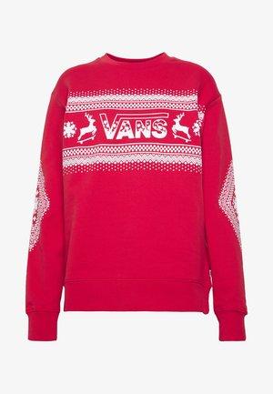 FESTIVE CREW - Sweatshirt - racing red