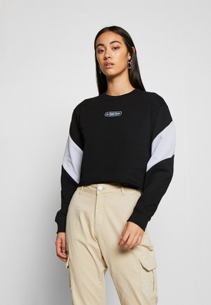 BLADEZ CROP CREW - Collegepaita - black
