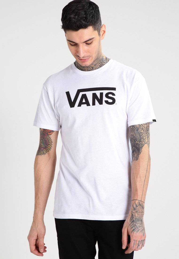 Vans - CLASSIC - T-shirt con stampa - white/black