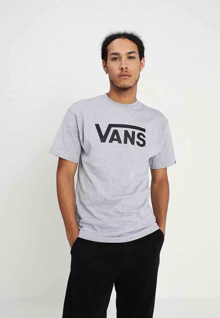 Vans CLASSIC - T-shirt z nadrukiem - athletic heather black