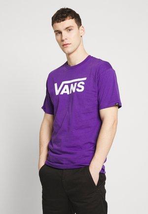 T-shirt med print - heliotrope-white