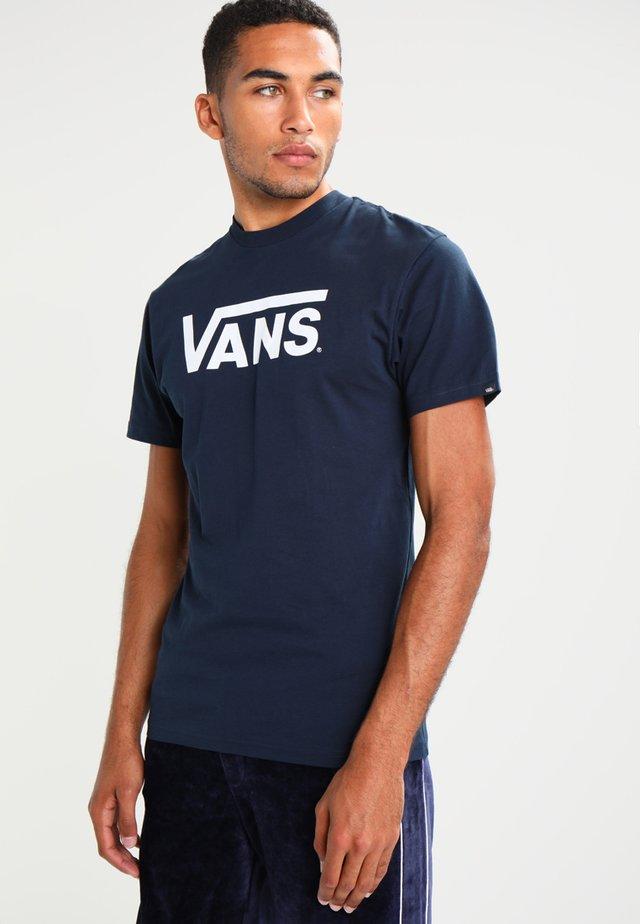 CLASSIC - T-shirt med print - navy/white