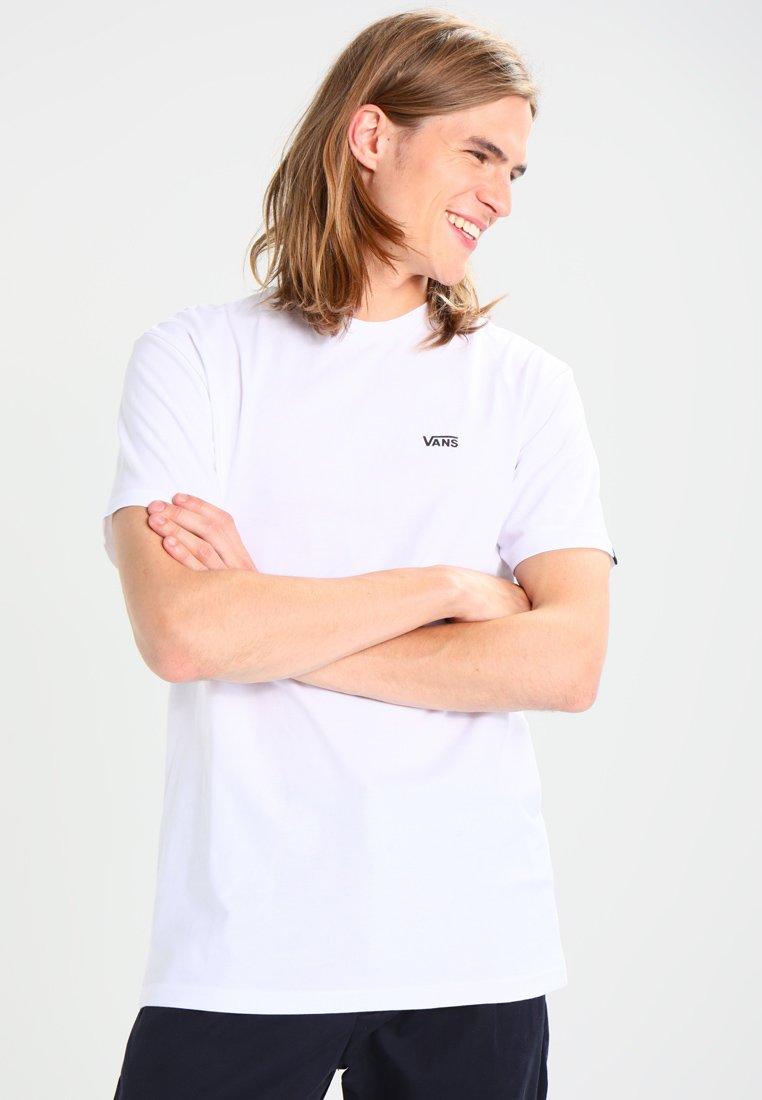 Vans - LEFT CHEST LOGO TEE - Camiseta básica - white